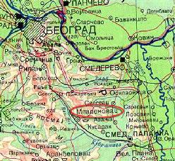 karta srbije mladenovac Les montagnes serbes sarplaninac karta srbije mladenovac